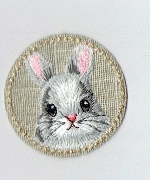"Patch fusible trend pattern ""rabbit"""