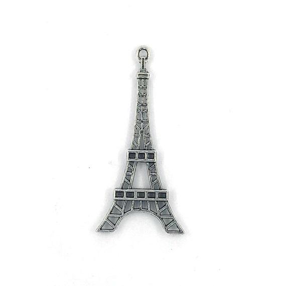 """Grande breloque - couleur argenté """"tour Eiffel"""""""
