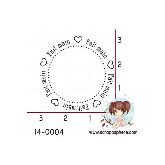 "SCR57 scraposphere pattern ""Handmade"" rubber stamp"