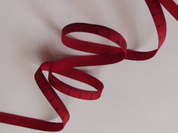 Cotton red centimeter pattern Ribbon