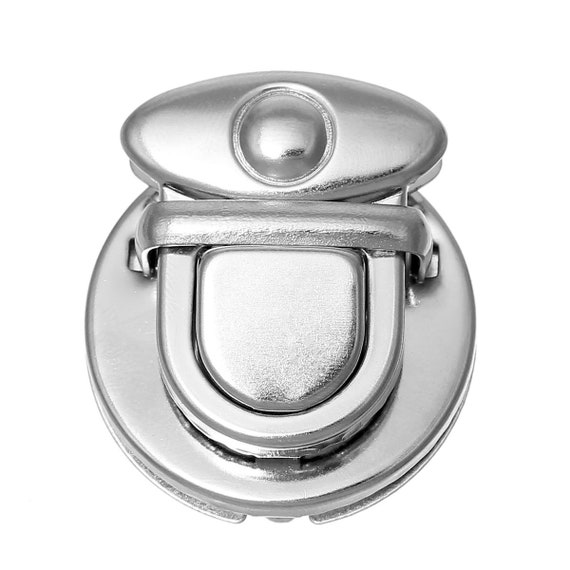 1 set clasp Briefcase - silver - size: 30 mm