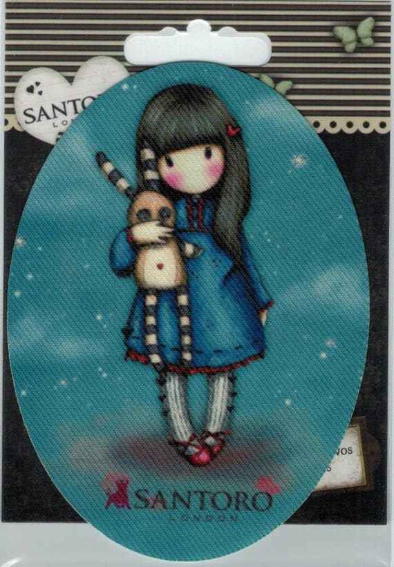 "Patch fusible trend pattern ""Girl Doll"" Santoro"