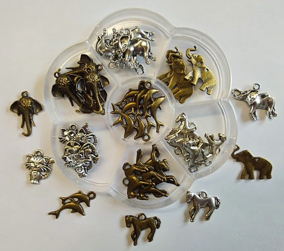 Animals-box flower 35 charms