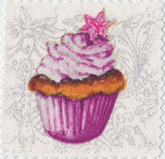 Cup cake 6 - applied fusible to fix to iron