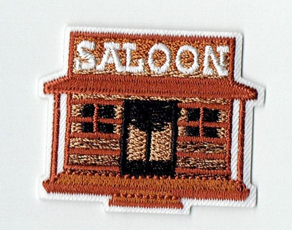 "Patch fusible trend pattern ""saloon"""