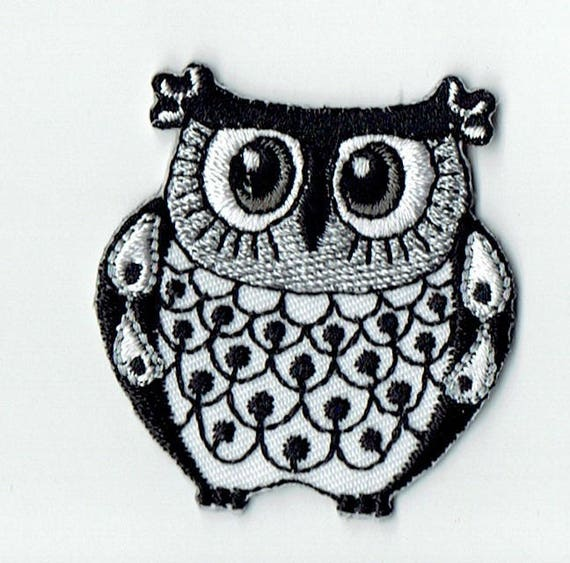 """Patch fusible trend """"Owls"""" pattern"""