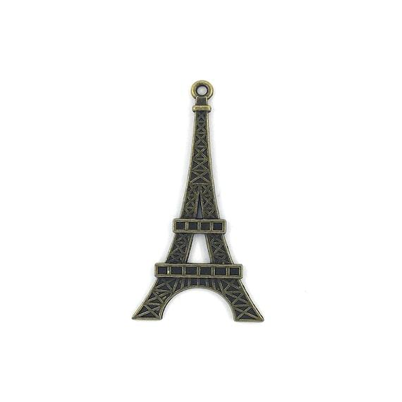 """Grande breloque - couleur bronze """"tour eiffel"""""""