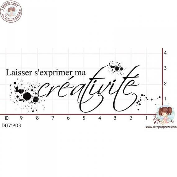"SCR49.1 rubber stamp to assemble pattern ""creativity"""