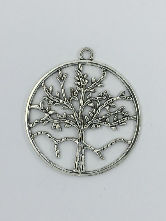 "Great charm - silver tone ""Tree of life"""