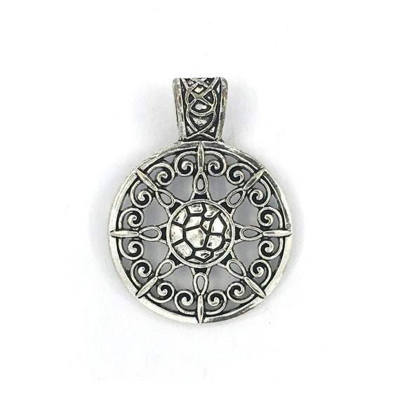 "Great charm - silver color ""rose"""