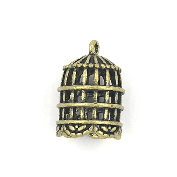 """Great charm - bronze """"cage 3D"""""""