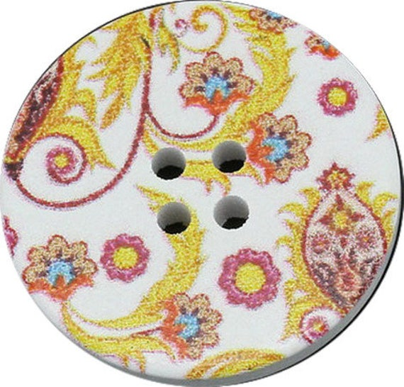 BBR30258 - 2 BUTTONS ROUND 30 MM WOODEN PATTERN WITH COLORS