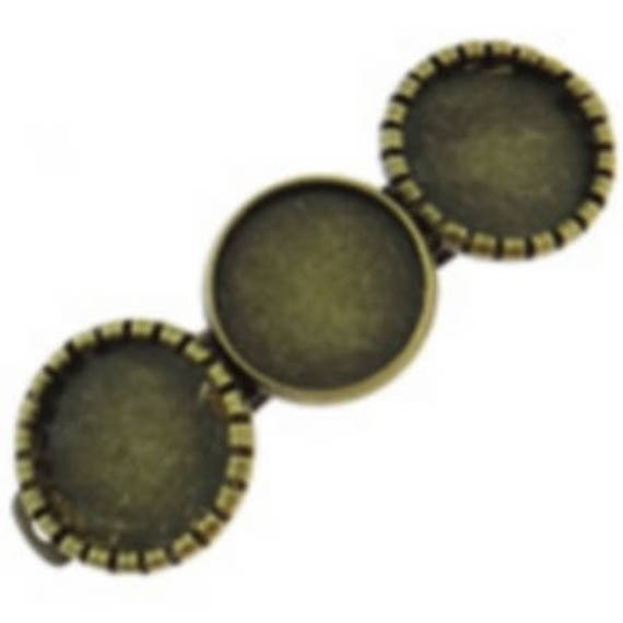 accessory set of 2 hair clips for hair color bronze