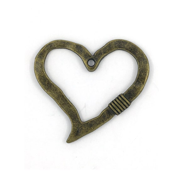 """Great charm - bronze colored """"Heart"""""""