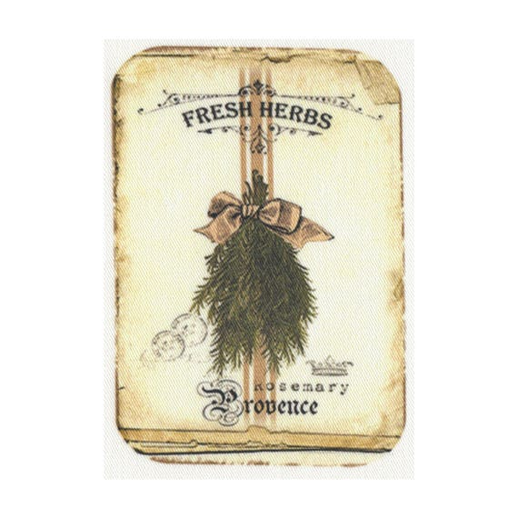 "Applied fusible - ""Fresh herbs"" Collection AT405-8"