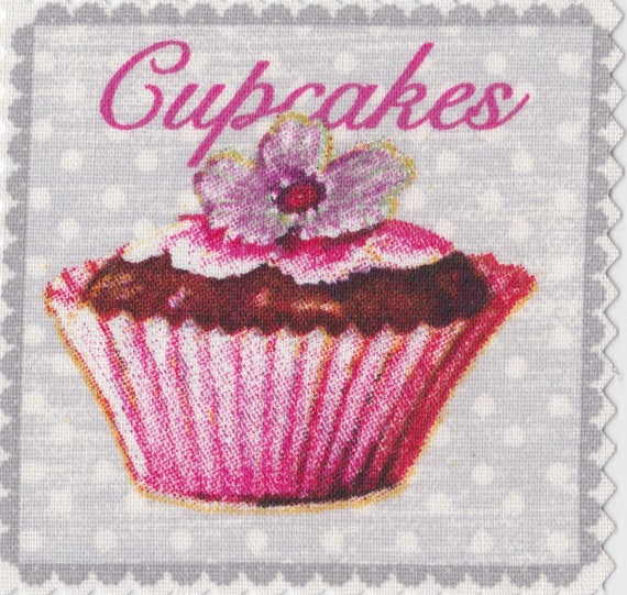 Cup cake 3 - applied fusible to fix to iron