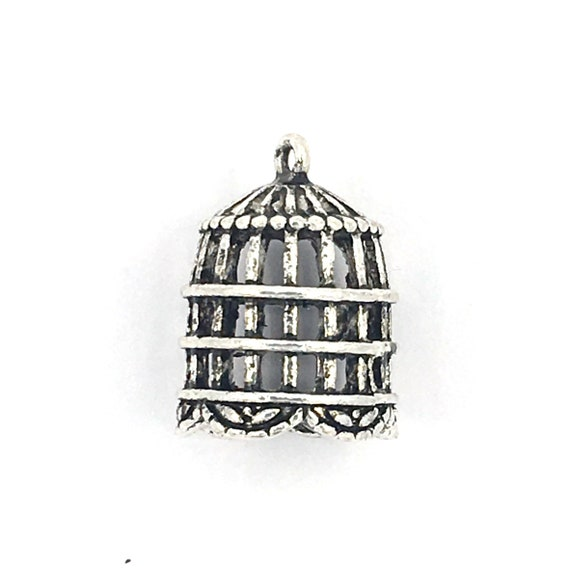 "Great charm - silver colored ""cage 3D"""