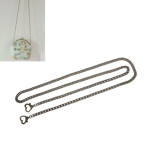 1 bag with clasp - bronze or silver - chain size: 1.20 m