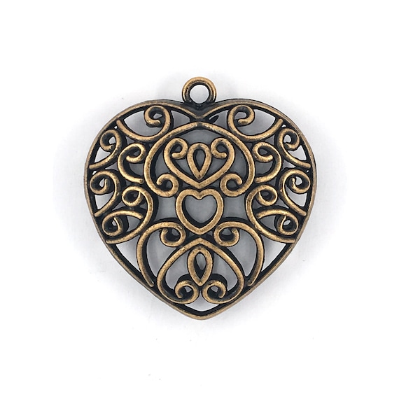 """Great charm - copper colored """"Heart"""""""
