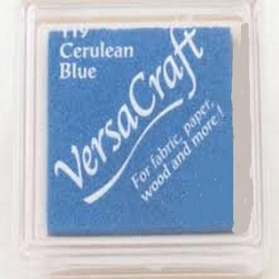 Ink VERSACRAFT cerulean - blue - blue fabric and wood