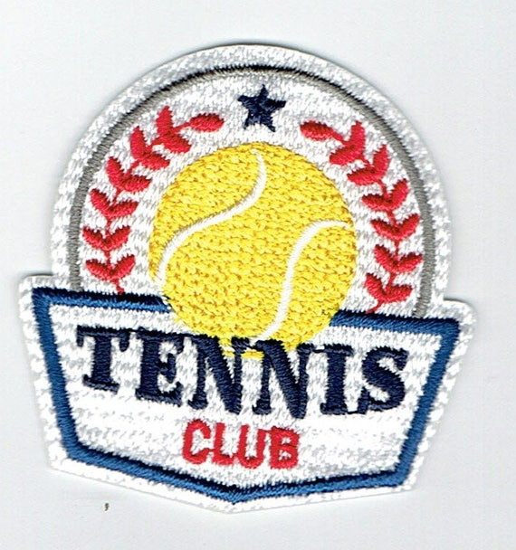 "Patch fusible trendy ""tennis"" pattern"