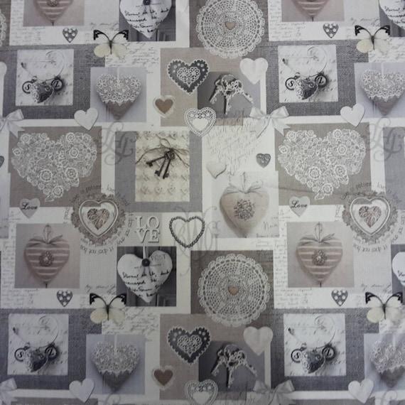Coupon design heart fabric