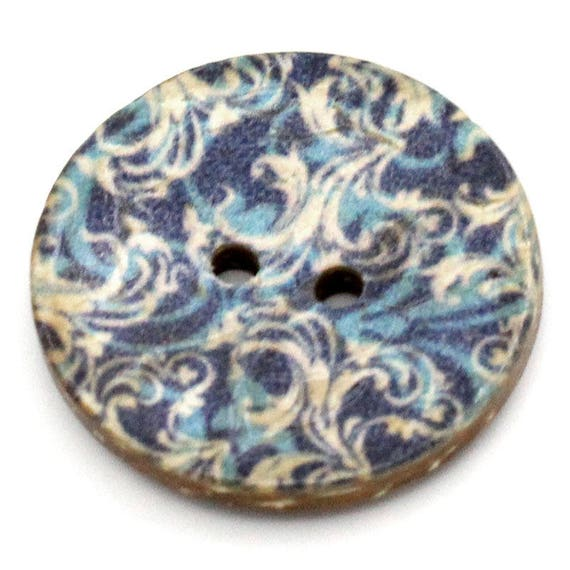 BCO25106 - colorful coconut 4 round buttons 25 MM