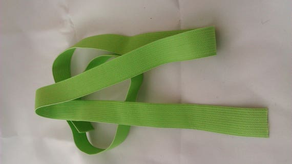 Elastic lime green - 2 cm wide - 2 meters