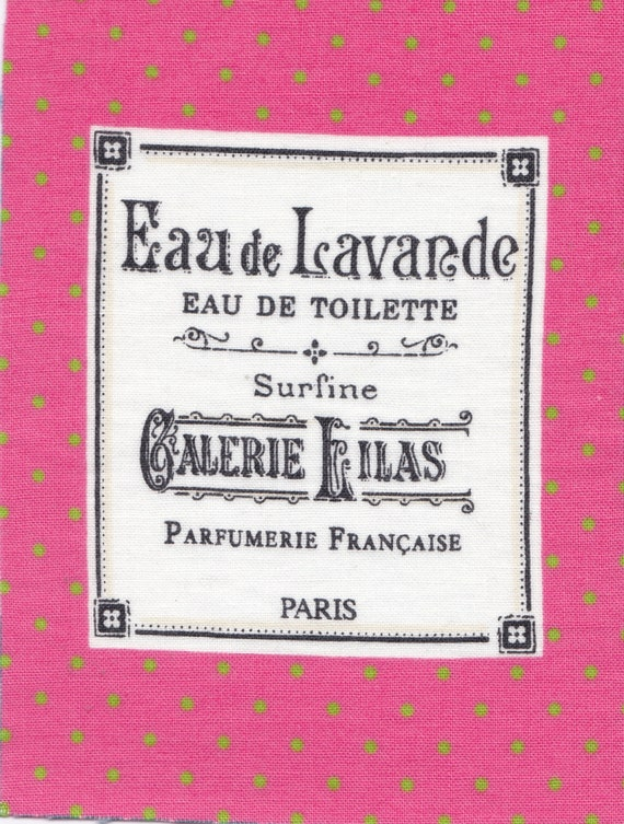"Applied fusible cotton polka dot pattern ""eau de lavender"""