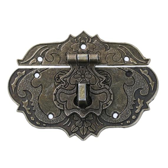 1 clasp set - bronze - size: 77 mm