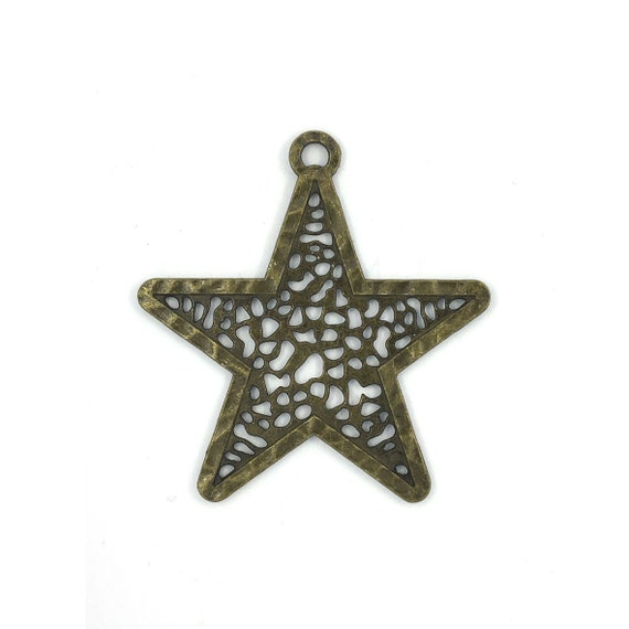 """Great charm - bronze-colored """"Star"""""""