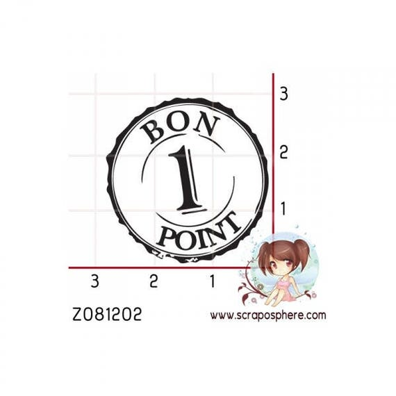 "SCR39 pattern ""point 1"" rubber stamp"