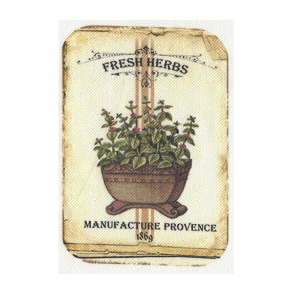"Applied fusible - ""Fresh herbs"" Collection AT405-5"