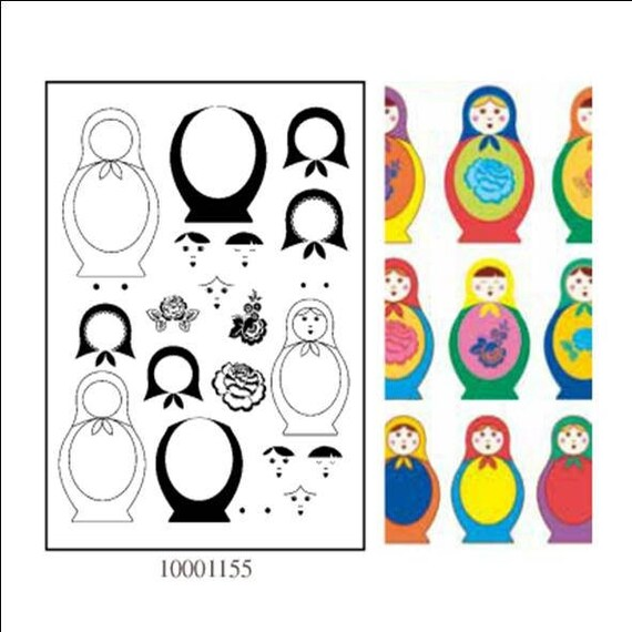 STAMP MATRYOSHKA ARTEMIO CLEAR STAMPS