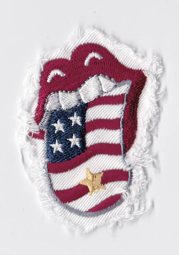 "Patch fusible trend pattern ""Language USA"""