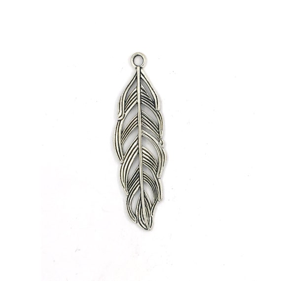 "Great charm - silver colored ""Feather"""