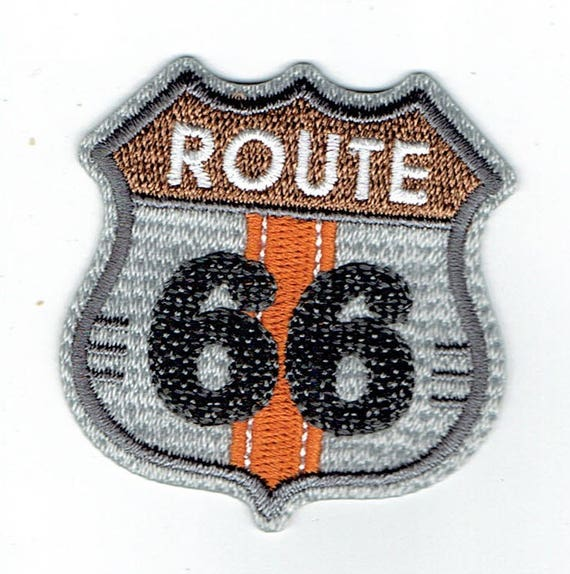 "Patch fusible trend pattern ""route 66"""
