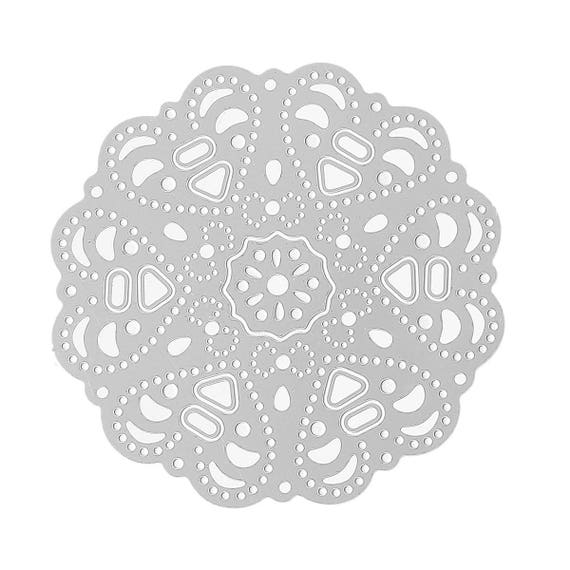 set of 2 filigree embelissement color silver
