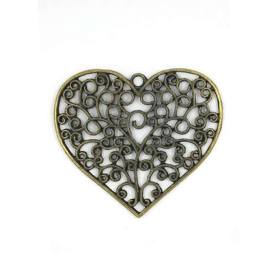 "Great charm - bronze colored ""Heart"""