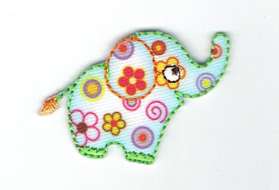 "Patch fusible trend pattern ""elephant"""