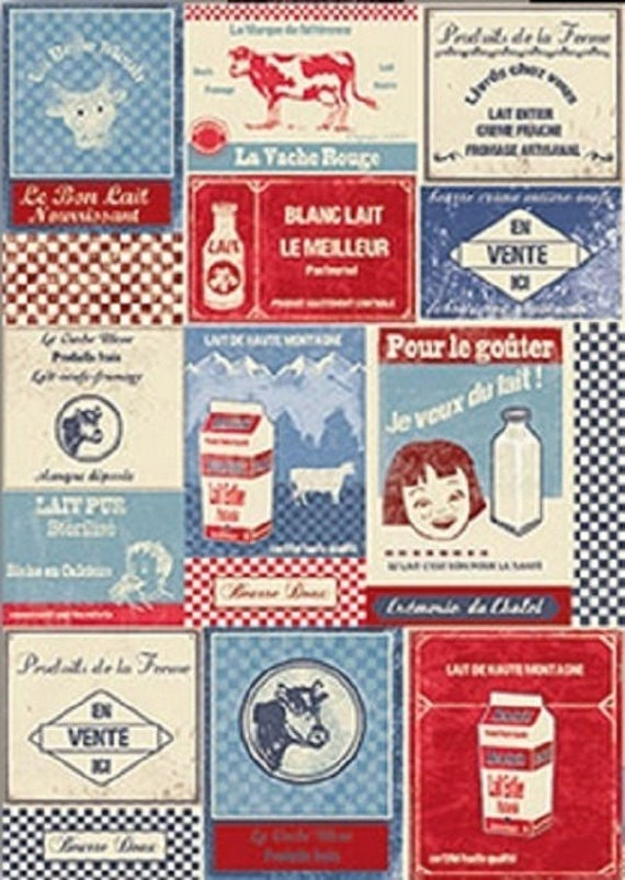 "MILK: coupon pattern ""Milk"" cotton twill"