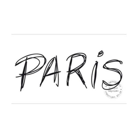 SCR24 rubber stamp to paris pattern
