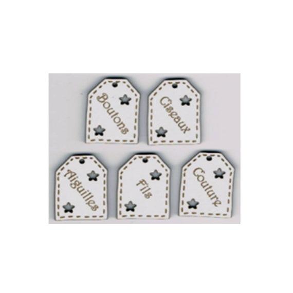 "plate pattern wooden buttons handmade ""label"""