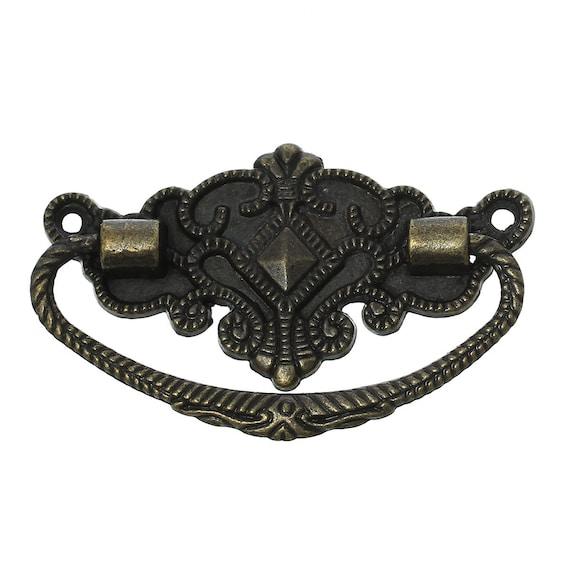 2 handles - bronze - size: 72 mm