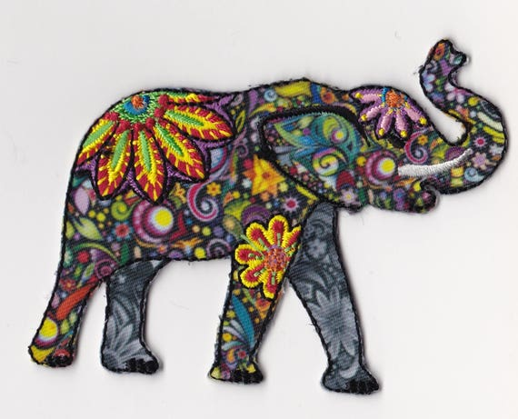 """Patch fusible trend pattern """"elephant"""""""
