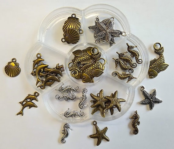 Animals sailors box flower 35 charms