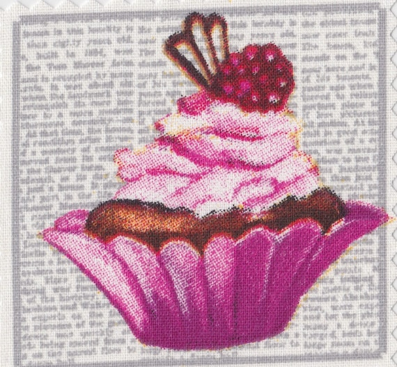 Cup 1 cake - Applique to be attached to the iron fusible