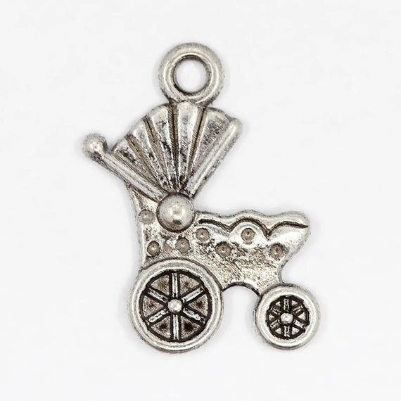 "Set of 5 charms ""Philadelphia"" color silver"