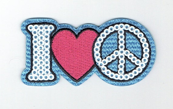 """Patch Thermo trend pattern """"i love peace"""""""