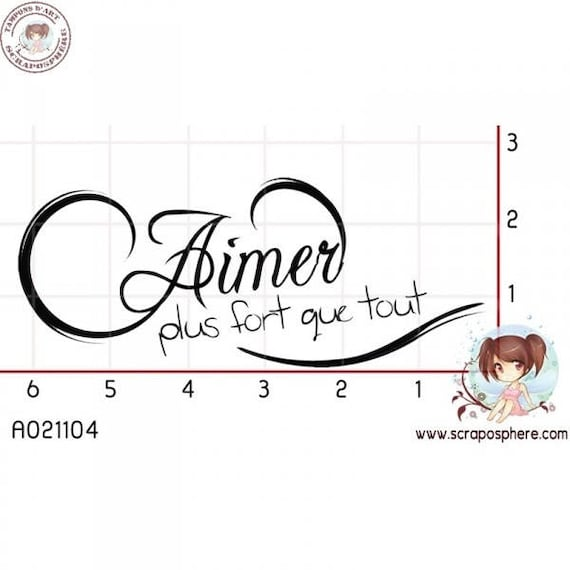 SCR46.1 rubber stamp to assemble pattern love